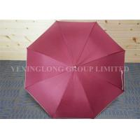 Quality Plain Red Hook Handle Umbrella , Stormproof Custom Imprinted Umbrellas for sale