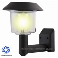 Black Finished Metal Solar LED Wall Light IP44 Solar Powered Exterior Wall Lights Manufactures