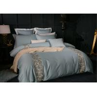 Fashionable Blue Modern Duvet Covers 4 Pcs Twin / Queen / King Size OEM Manufactures
