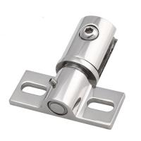 China adjustable rotating stainless steel glass door hinge free pivoting action on sale