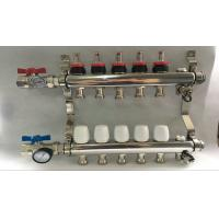 Russia Style Long  Flow Meter Radiant Heat Manifold With White Control Manufactures
