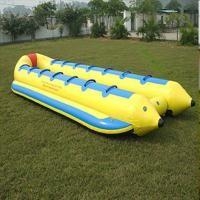 Quality Single Line / Double Lines Banana Shaped Lightweight Inflatable Boat PVC Tarpaulin for sale