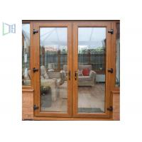 Quality European Style Aluminium Casement Door Soundproof Outswing Exterior French Door for sale