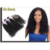 5A Brazilian Virgin Hair Deep Curl Double Weft Hair Can Be Dyed And Bleached Manufactures