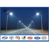 Round 10m Hot Dip Galvanized Parking Lot Light Poles 3.0mm - 8.0mm Thickness Manufactures