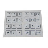 24 Keys Dust Proof Industrial Membrane Keypad With Dot Matrix Manufactures