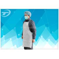 Non-Woven Fabirc Disposable Plastic Aprons Comforable To Wear , Neck And Waist With Tie Manufactures