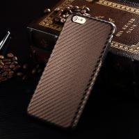Super Thin Leather Back Cover For IPhone 6 Plus Carbon Fiber Pattern With TPU Case Manufactures