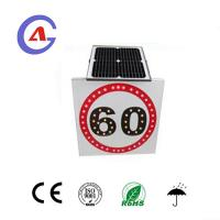China custom traffic signs aluminum 60 speed limit sign solar power led traffic sign on sale