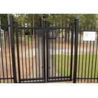 2.1mx2.4m Garrison Fencing Panels rail 50mm x 50mm  1.6mm upright 25mm x 25mm wall thick 1.2 with pedestrian gates Manufactures