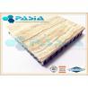 Interior Wall Design Lightweight Cladding Panels , Travertine Composite Stone Panels Manufactures