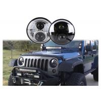 60W LED Headlights For Jeep Wrangler 7 Inch With Hi - Lo Beam Round Manufactures