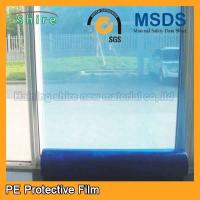 Durable Temporary Glass Protection Film , Anti - Oil Blue Window Protection Film Manufactures