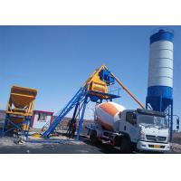 Fixed Ready Mixed Concrete Batch Plant Twin Shaft Mixer High Weighing Precision Manufactures