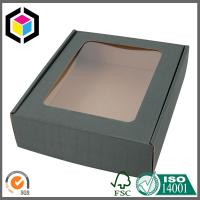 Quality E Flute Corrugated Carton Shipping Box with Clear Plastic Window Custom Color for sale
