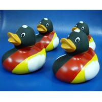 Quality Promotional Flag Colored Squeezing Rubber Ducks , Soft Squeezing Tiny Plastic for sale