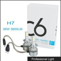 New 360° Viewing Angle LED H7 Headlight 36W C6 Lighting Bulb IP67 Waterproof for Jeep Manufactures