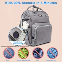 Water Resistant Portable Mummy Diaper Bag For Baby Bottle Manufactures