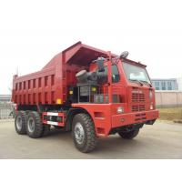 China Red Sinotruk 6x4 Rc Heavy Duty Dump Truck Tipper 60 Ton Mining With Hova Chassis on sale