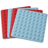 Kitchenware bakeware silicone thick placemat with round lines Manufactures