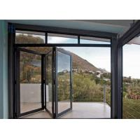 Custom Double Glass Aluminium Folding Doors For Exterior Patio / Aluminium Bifold Door Manufactures