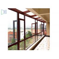 Quality Space Saving Aluminium Casement Windows Grills Design Anti Aging For Building for sale