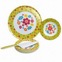 Melamine Pizza Plates, Made of 100% Melamine, Available in Two Tone Color, FDA Certified Manufactures