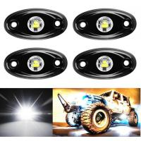 4 Pcs Offroad Rgb Rock Light For Jeep Bluetooth Control 9w Multicolor 6000K Manufactures