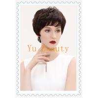 China short hair style with less air fresh fringe front fashion women human hair wigs on sale