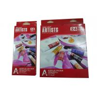 Free Combination Color Art Painting Colours Acrylic Color Set 12 X 12ml / 24 X 12ml Tubes Manufactures