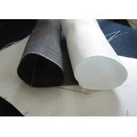 White PTFE Coated Alkali / Non-Alkali Filter Fabric Roll 330 - 900gsm woven roving plain cloth Manufactures