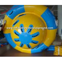 Quality Splash Fun Inflatable Saturn Rocker , PVC Tarpaulin Inflatable Water Rotating for sale