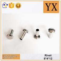 Buy cheap Youxin Hardware High Quality Bright Nickel Metal Hollow Rivet from wholesalers
