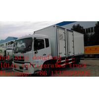 hot sale dongfeng tianjin refrigerated truck with US Carrier reefer, best price dongfeng 15tons cold room truck for sale Manufactures