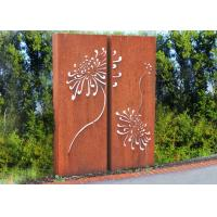 Corten Steel Metal Wall Sculpture For Indoor Outdoor Decoration 120cm Height Manufactures