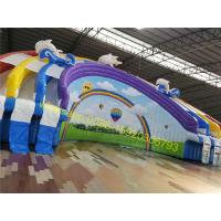 rainbow giant water slide with pool Manufactures
