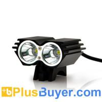 Waterproof Dual LED Bicycle Headlight + Headlamp (1600 Lumens, Rechargeable) Manufactures