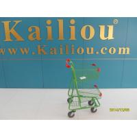 Two Basket Grocery Shopping Trolley , 4 wheel shopping cart with clear coating