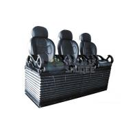Luxury black 3 seats / set Movie Theater Chairs By pneumatic / hydraulic Control Manufactures