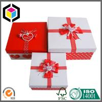 Bowknot Paper Packaging Box for Gift; Red Color Print Custom Design Paper Gift Box Manufactures