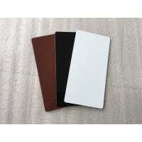 Black Aluminum Sign Panels / Weatherproof Sign Material With Color Uniformity Manufactures