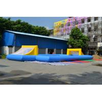 Commercial 0.55mm PVC Tarpaulin Football Field Inflatable Sports Games Manufactures