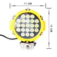 High Efficiency White 63W 7 Inch Portable Led Work Light 30 Degree Spot Beam for Police Car Manufactures