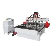 6 Spindle Heads Wood Relief CNC Router with 1300*1800mm Working Area Servo Motor Manufactures