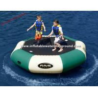 Large PVC Tarpaulin Inflatable Water Trampoline Pool , Water Inflatable Bouncer Manufactures