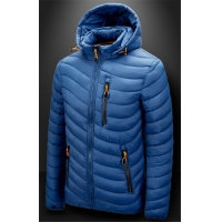 Buy cheap Men'S Winter Nylon Fabric Quilted Jacket With Detachable Hood from wholesalers