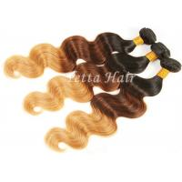 3 Tone Body Wave Natural Ombre Hair Extensions Brazilian Hair Weave Manufactures