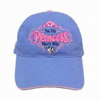 China Sandwich peak cap with embroidery, for ladies on sale