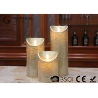 Dancing Flame Battery Operated Candles , Romantic Flickering Flame Led Wax Candle Manufactures