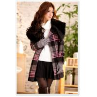 Buy cheap British luxury fur collar wool coat for women from wholesalers